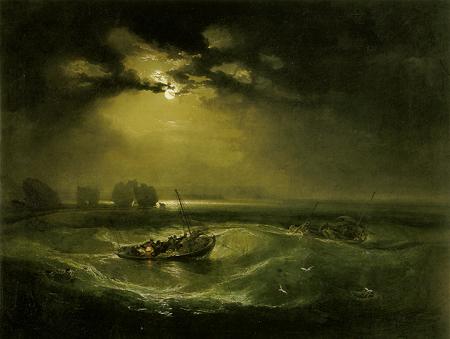 Obraz morza w pracy Williama Turnera - Rybak na morzu