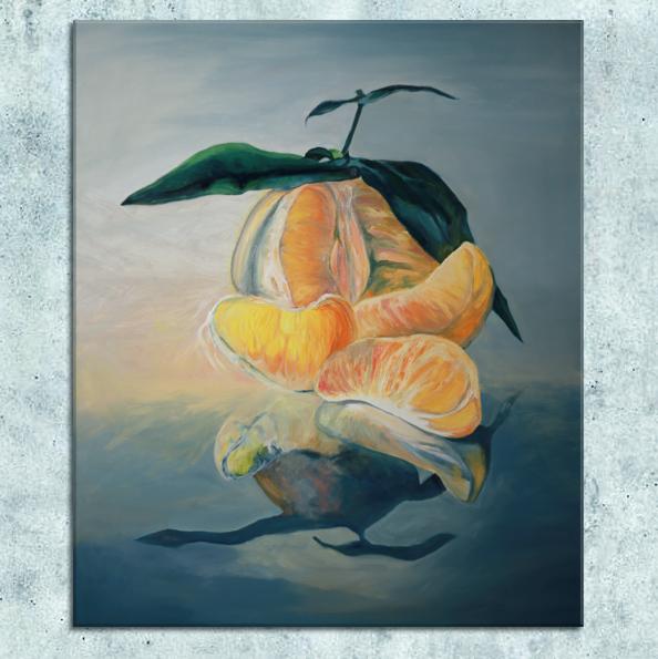 obraz olejny owoce
